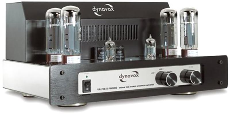 Dynavox VR-70 E II Amplificateur intégré à tubes phono Chromé